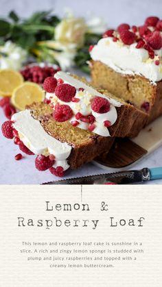 Lemon and Raspberry Loaf Cake