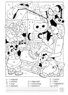 Ábécés színező - kisferenc.qwqw.hu Expresso, Worksheets, Snoopy, Album, Learning, School, Fictional Characters, Color, Google