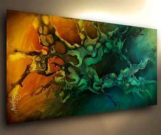 PAINTING  MODERN ART ABSTRACT Contemporary DECOR Michael Lang certified original #ArtDeco