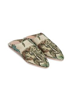 ASIA - Babouche slippers - Elephant pattern Jungle Pattern, Elephant Pattern, Jungle Print, Slippers, Footwear, Leather, Shoes, Style, Fashion