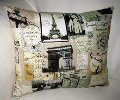 French Country Pillow inspired by Paris, France! On Etsy, $15.99!