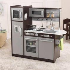 KidKraft Uptown Play Kitchen, Espresso - Walmart.com