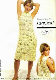 As Receitas de Crochê: Vestido de crochê