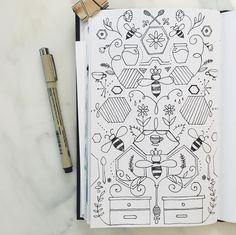 All things bee. 138/365 Two if by Sea Studios sketchbook.