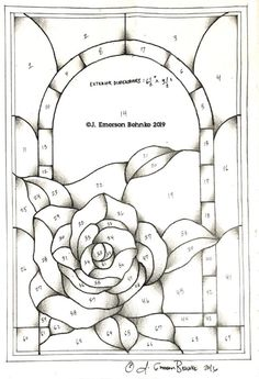 A pattern for stained glass. Builds to × Customers will receive two full scale black and white prints via USPS. Stained Glass Door, Stained Glass Flowers, Stained Glass Panels, Stained Glass Projects, Mirror Mosaic, Mosaic Art, Mosaic Glass, Stained Glass Patterns Free, Stained Glass Designs