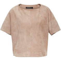 Suede Oversized Top | Moda Operandi (€1.550) via Polyvore featuring tops