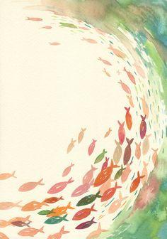#watercolor #fishes @Sabrina Jones