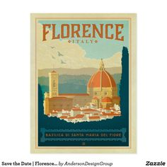 Save the Date | Florence, Italy Postcard Anderson Design Group is an award-winning illustration and design firm in Nashville, Tennessee. Founder Joel Anderson directs a team of talented artists to create original poster art that looks like classic vintage advertising prints from the 1920s to the 1960s.