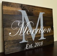 Last Name Pallet Sign- Personalized Family Name Established Sign- Hand painted pallet wood Source by etsy
