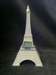 EIFFEL TOWER MILLENNIUM PERFUME BOTTLE CLOCK