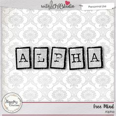 Free Mind digital scrapbooking alpha by HappyNess Creation. This black and white alpha can be used on any kind of layout.