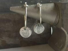 Silver Hoop Earrings Small Hoop Earrings Boho Earrings   Etsy