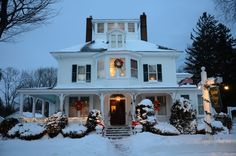 Kennebunkport Maine bed and breakfast in winter - so beautiful