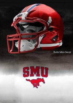 SMU Southern Methodist University Mustangs - concept football helmet