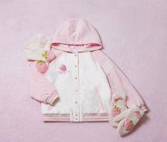 strawberry jacket  discount: okaywowcool  kawaii pastel fairy kei larme kei harajuku fachin jacket strawberry fruit food sweets discount storenvy cutey
