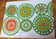 Marimekko Cotton Big Bright Abstract Fabric Panel