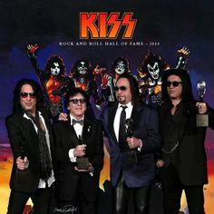 KISS at the Rock and Roll Hall of Fame (4/11/14)...FINALLY!! They made it!!!