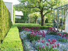 Gardens at The Musée des Impressionnismes Giverny outside of Paris where Monet lived and painted