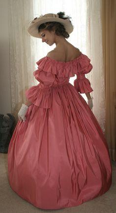 Civil War Era Silk Gown