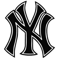 New York Yankees - Logo (Outline) Yankees Outfit, Yankees Logo, Ny Yankees, Yankees Baby, New York Yankees Stadium, New York Yankees Baseball, New York Mets, Baseball Bats, Silhouette
