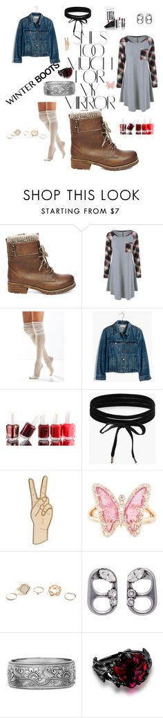 """Boots contest"" by sftorchwood ❤ liked on Polyvore featuring Rika, Steve Madden, Urban Outfitters, Madewell, Essie, Boohoo, Lucky Brand, Luna Skye, GUESS and Marc Jacobs"