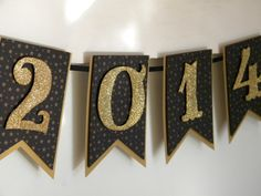 Gold and Black 2014 Graduation Banner #classof2014