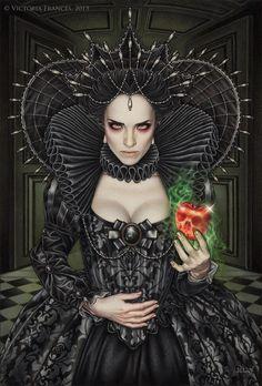 """""""Poisonous Envy"""" by Victoria Frances. Art in black"""
