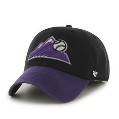 78579aeba6ab0 Colorado Rockies 47 Brand Franchise Black Purple Mountain Logo Hat Cap