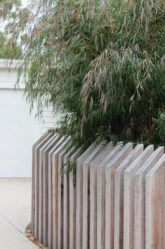 A garden design for a long, narrow site - GardenDrum Sleeper Retaining Wall, Retaining Walls, Oak Sleepers, Patio Deck Designs, Garden Screening, Sloped Garden, Front Fence, Modern Garden Design, Garden Inspiration