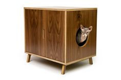 Standard Cabinet // Mid Century Modern Pet Furniture // Cat Litter Box Cover // Pet House // Side Table
