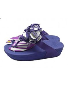 0e07d77f729 Amazing New Fitflop Frou Flower Sandals Blue Rock Chic