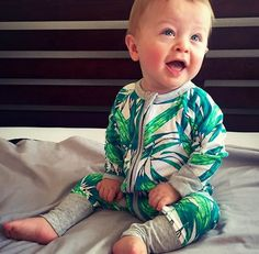 2016 Autumn New Baby Rompers Polka Dot Bamboo Long Sleeve Cotton Jumpsuits Baby Clothing 1854
