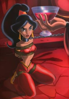 Princess Jasmine in the hands of Jafar