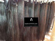 European Coarse Thick Natural Dark Slight Wavy Hair Weft Extension, Longest Hair #EasternHAIR #HairExtension