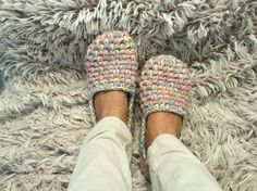 Womens slippers Thick slippers Crochet slippers by EllenaKnits
