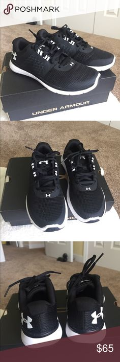 Shop Women s Under Armour Black White size 6 Athletic Shoes at a discounted  price at Poshmark. Description  Under Armour W Fuse FST Shoes. 45efbe366