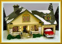 Department 56 Snow Village The Brandon Bungalow.... HAVE IT, MY FAVORITE, MY SON'S NAME IS BRANDON!!