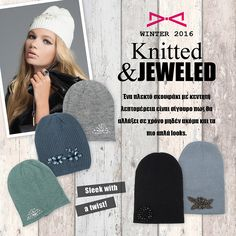 Keep yourself warm and stylish with our jeweled beanies! Fall Winter 2015, Beanies, Crochet Hats, Warm, Stylish, Knitting Hats, Beanie Hats, Beanie, Berets