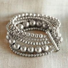 Sundance beaded silver bracelet