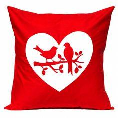 Love birds handmade cushion cover - hardtofind.