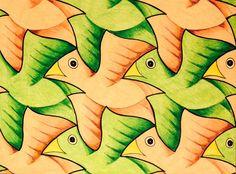 #tessellation #tiling #geometry #symmetry #Escher #Mc_Escher Symmetry nr. 106