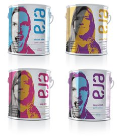 Era Paints are a line of interior paints for your home. This line offers bright, bold colors inspired by those of the Pop Art movement and artists such as Andy Warhol.