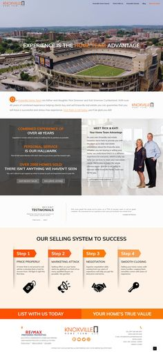 Custom Real Estate Web Design Home Team, Web Design Inspiration, Real Estate Marketing, Stress Free, Custom Design, Marketing Ideas