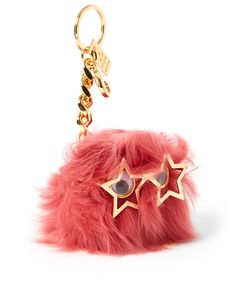 Sophie Hulme Large Black Pom Pom Shearling Keyring | Accessories | Liberty.co.uk