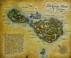 Map of Tom Sawyer Island