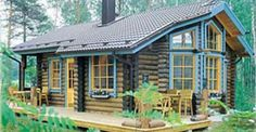 The Bison wood cabin kit is an 840 square foot log cabin that has everything needed for a comfortabl . Tiny House Cabin, Log Cabin Homes, Tiny House Plans, Tiny House Design, House Floor Plans, Log Cabins, Small Cabins, Shed Building Plans, Home Building Design