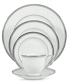 "Lenox ""Pearl Platinum\"" 5-Piece Place Setting"