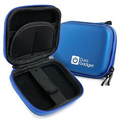 Blue Hard EVA Shell Case with Carabiner Clip  Twin Zips for the EasyPix GoXtreme Endurance  by DURAGADGET ** Continue to the product at the image link.