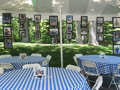 8 Of The Best Picture Display Ideas For Your Grad Party - Twins Dish Easy Graduation party hanging picture display idea for outdoor high school and college, boys and gi Outdoor Graduation Parties, Graduation Party Centerpieces, Grad Party Decorations, Graduation Party Planning, College Graduation Parties, Graduation Celebration, Graduation Party Decor, Grad Parties, Graduation Ideas