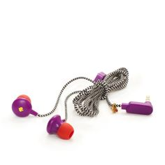 Purple and red - have just gone straight to the top of my wishlist! kate spade   signature spade earbuds